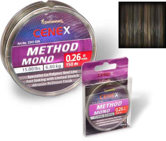 Browning Cenex feeder silon - Method Mono 150m priemer 0,26mm