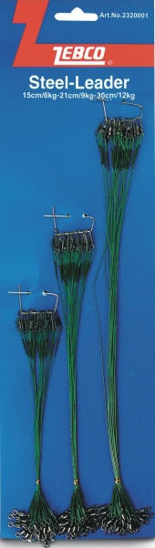 lanko oceľové zebco na karte, 72ks tri rôzne dĺžky lani