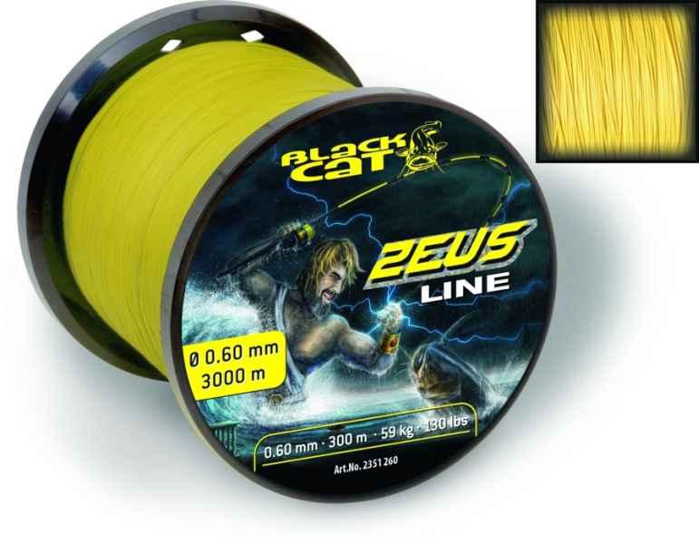 Sumcová šnúra Black Cat  Zeus Line 0,60mm / 59kg / 450m