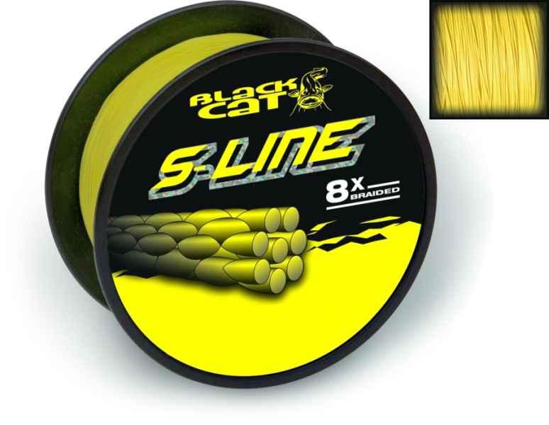Sumcová šnúra Black Cat S-Line 8 vláknová 0,55mm/450m/70kg