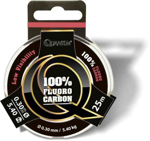 100% Fluoro Carbon Predator priehľadný 25m Priemer: 0,45mm, nosnosť: 10,70kg