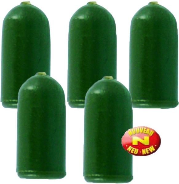 Stoper Buffer Beads, zelený, 10ks