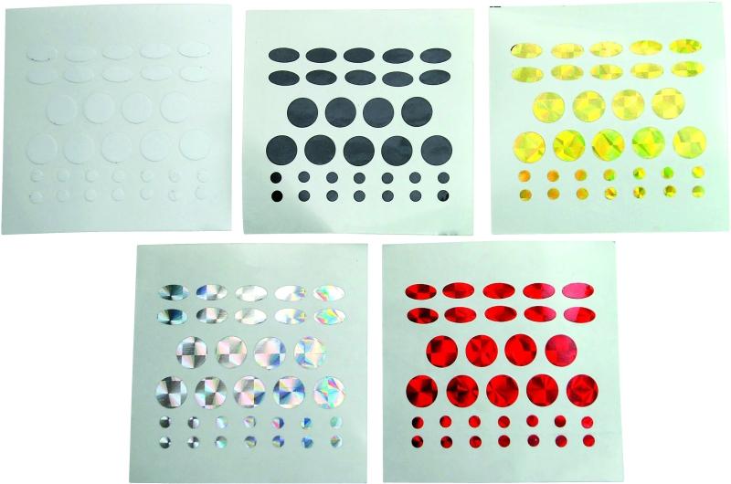 nálepky na nástrahy Tuning dots 5 fareb set