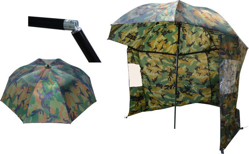 dáždnik s bočnicami zebco storm 2,20m camou