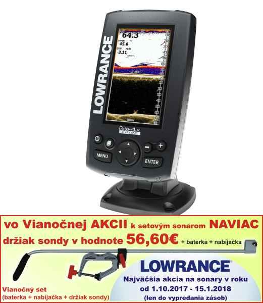 lowrance ELITE-4X CHIRP sonar 4 lúče 30°až 120°