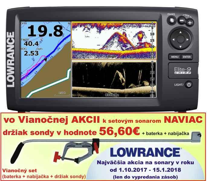 ELITE-9X CHIRP bez GPS sonar 4 lúče 30°až 120°