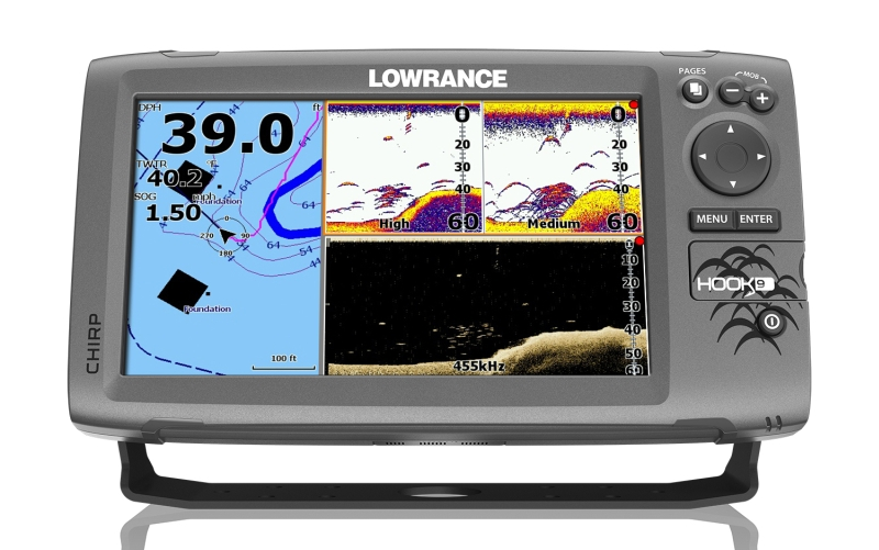 Sonar LOWRANCE Hook - 9 Chirp so sondou na more / GPS