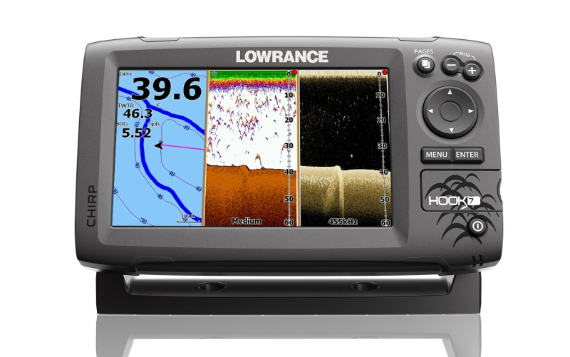 Sonar LOWRANCE Hook-7 Chirp so sondou na more / GPS