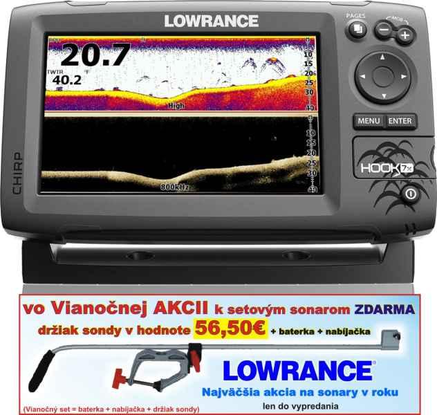 Sonar LOWRANCE Hook-7x Chirp so sondou