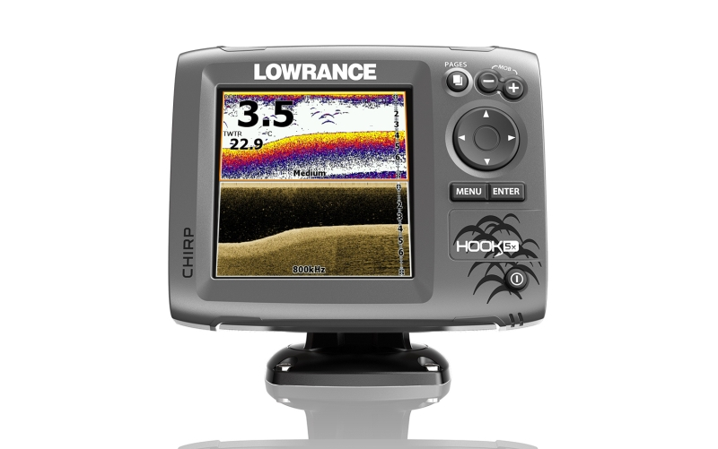 Sonar LOWRANCE Hook-5X Chirp so sondou na more