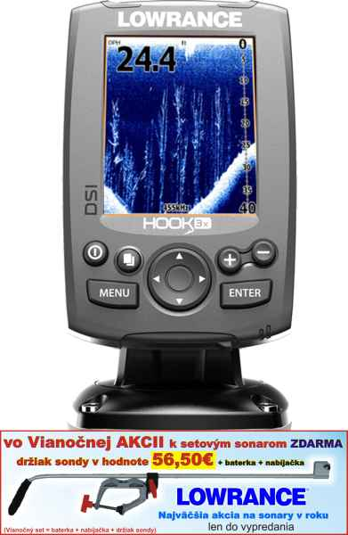 Sonar LOWRANCE Hook-3x DSI sonar so sondou 455/800kHz