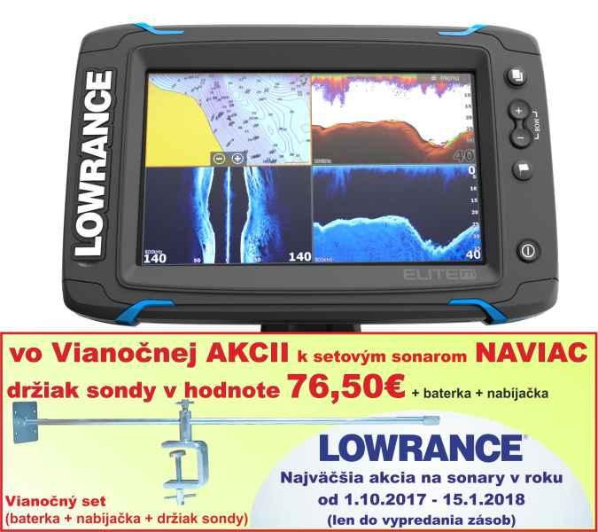 Dotykový sonar LOWRANCE Elite-7Ti bez sondy Bez sondy