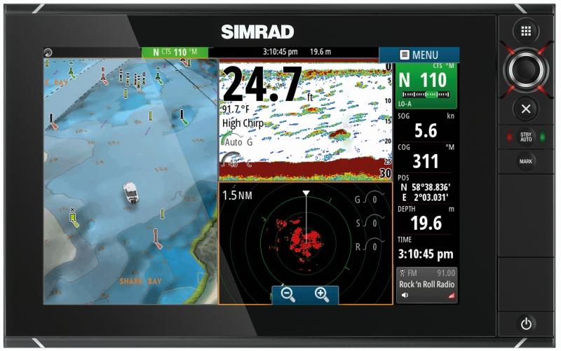 SIMRAD set multifunkčný sonar NSS12 evo2 + 4G radar
