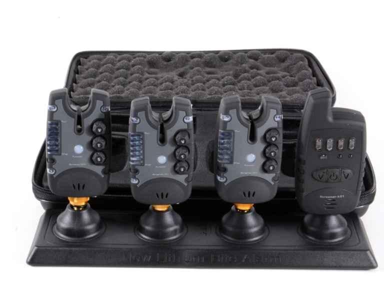 Signalizátory s príposluchom 3ks + prijímač + kufrík