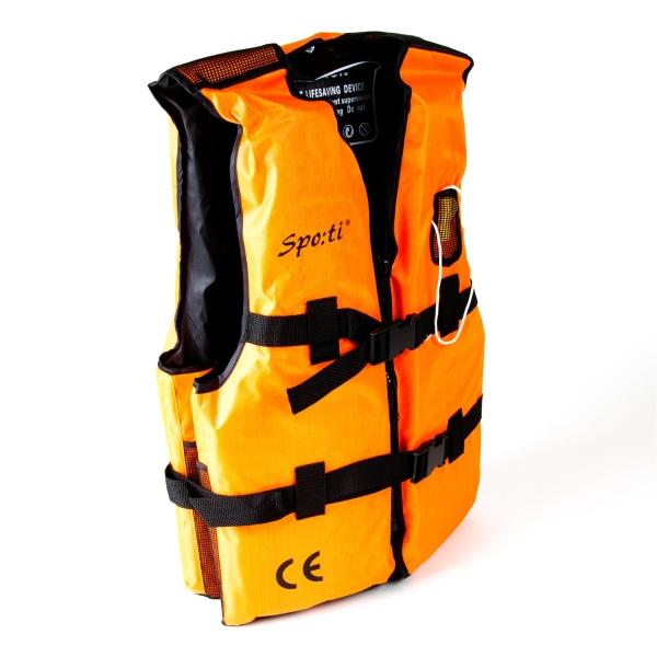 Vesta plávacia oranžová s píšťalkou velkosť L