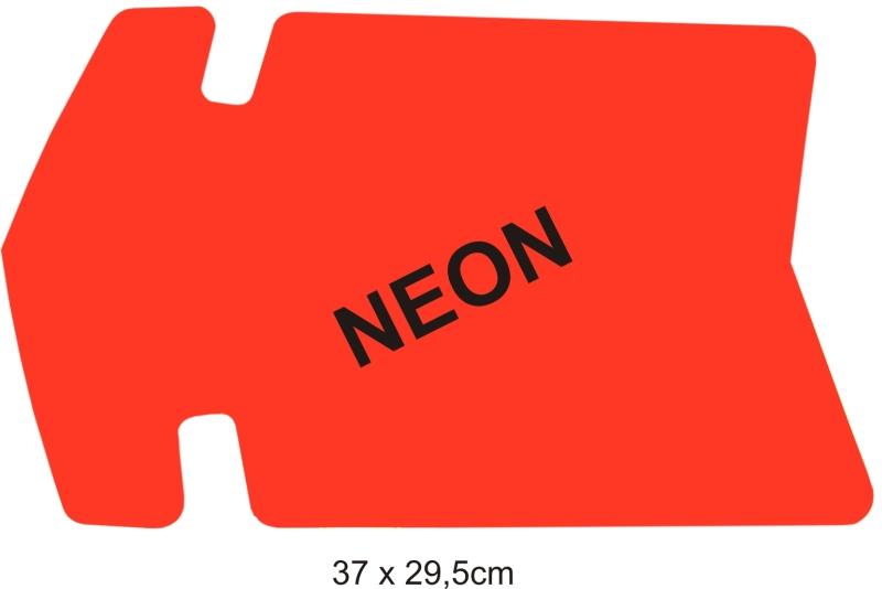 Reklamná šipka - balenie 25ks 30x19,5cm neón žltá 25ks