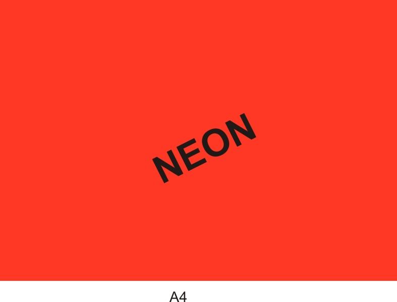 Reklamná tabuľka A4 neón červená cena 1 bal. (1bal=50ks 625 322 - Reklamná tabuľka A4 neón žltá cena 1 bal. (1bal=50ks)
