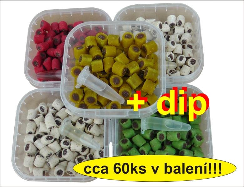 Duo Pipe peletky 10mm/50g + DIP Korenie Ryba (zelené) + DIP