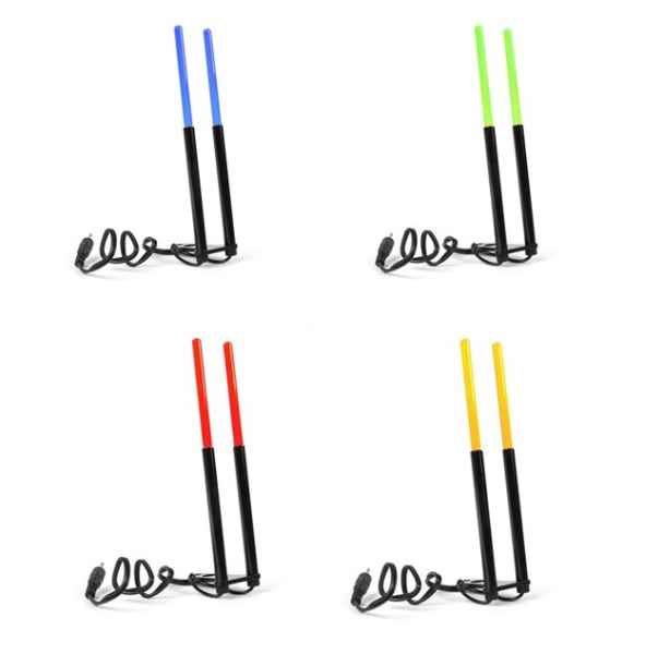 Držiak prútu - svietiaci - výška 15cm Zelená LED