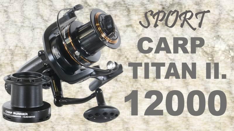Navijak SPORTS CARP TITAN II 12000 - dvojbrzdový 1ks