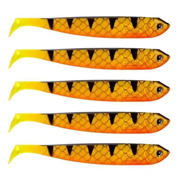 Gumené nástrahy na zubáčov Gummifisch 12cm, 5ks UV oranžová, 5ks