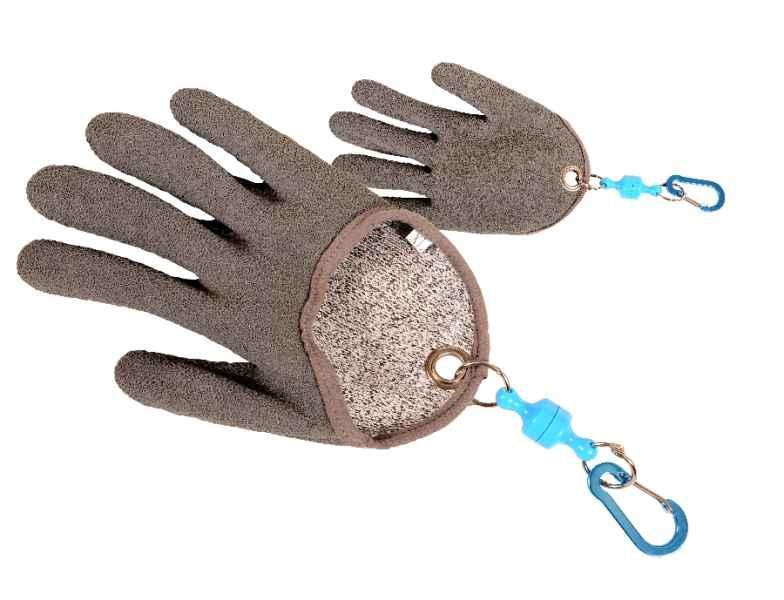 Pogumovaná sumcová vylovovacia rukavica s magnetom XL