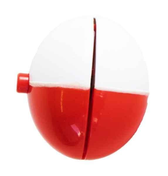 Rýchloupínací plavák červeno-biely 5cm/18g