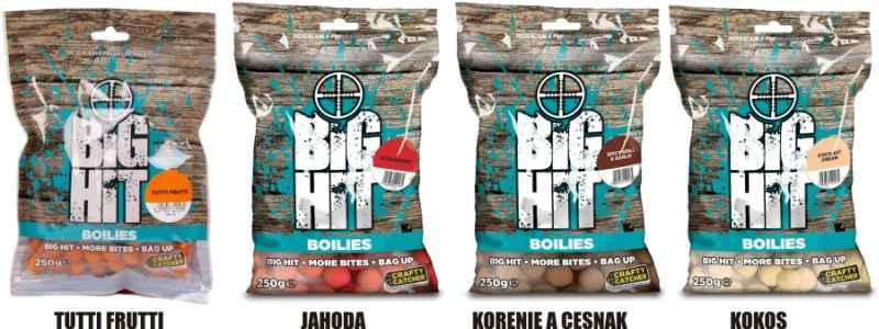 Boilies Crafty Catcher Big Hit 15mm / 250g Coconut Cream/Kokosový krém