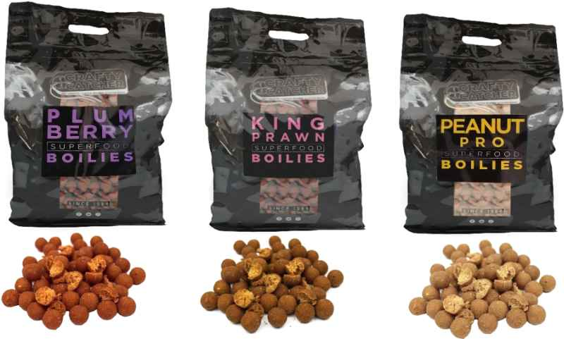 Crafty Catcher Super Food boilie 15mm 5kg Plumberry/Slivka Boilies