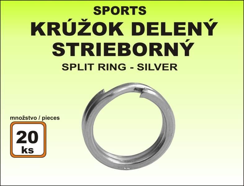 Krúžok Sports - delený čierny veľkosť 7 / 10kg / 20ks