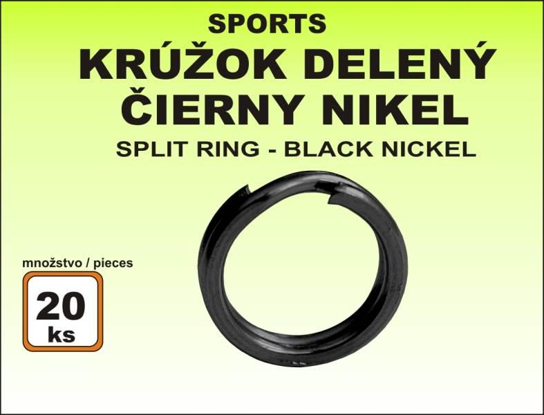Krúžok Sports - delený čierny veľkosť 3 / 8kg / 20ks