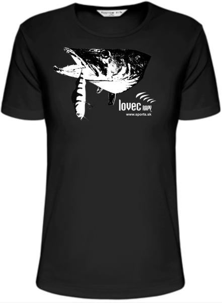 Rybárske tričko šťuka ulovená na vobler. veľkosť XXL
