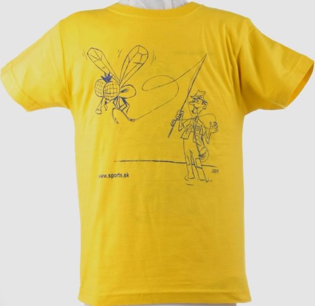 Tričko detské Rybár muškár žlté