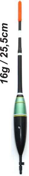 Plavák na ryby, dĺžka 255mm / nosnosť 16 gr
