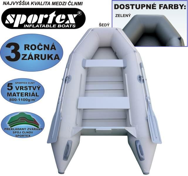 SPORTEX nafukovacie člny SHELF 290 - lamelová podlaha