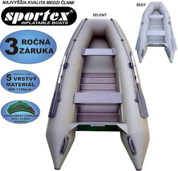 SPORTEX nafukovacie člny SHELF 330 - lamelová podlaha