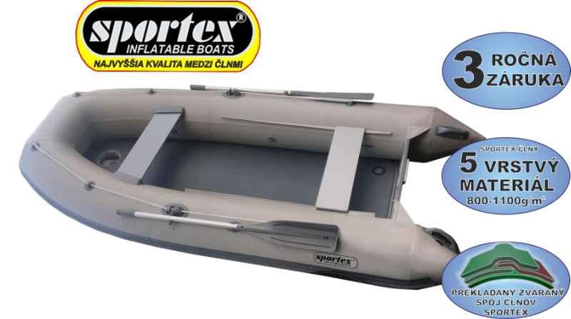 SPORTEX čln Shelf s kýlom pevná nafukovacia podlaha dĺžka 310cm zelený