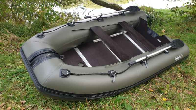 Sportex čln Shelf + pevná drevená podlaha + FASTEN Dĺžka: 330cm - zelený