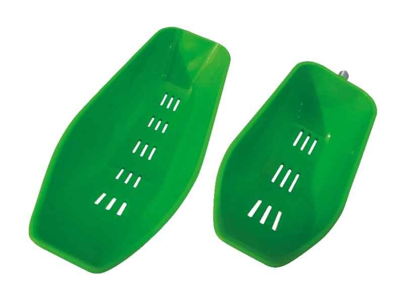 Kŕmna lyžica Bait Messenger zelená veľkosť L: 26 x 7cm