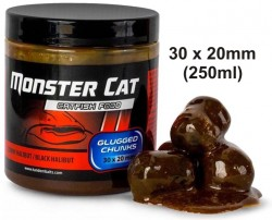 Monster Cat dipované pelety 30x20mm/300g Tandem Baits