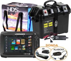 LOWRANCE HDS-7 Carbon Chirp+3D sonda + Power Box Max