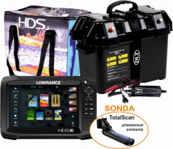 LOWRANCE HDS-7 Carbon TotalScan + Power Box Max
