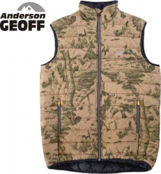 Rybárska vesta Geoff Anderson Dozer Liner Leaf/Maskač