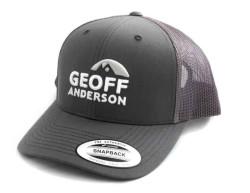 Šiltovka Geoff Anderson SnapBack sieťová s logom šedá
