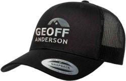 Šiltovka Geoff Anderson s logom - čierna