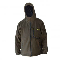 Softshellová bunda s kapucňou FAITH - olivová farba