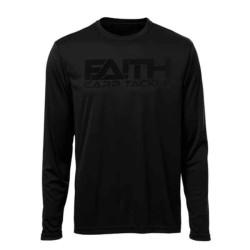 Tričko FAITH dlhý rukáv - čierne