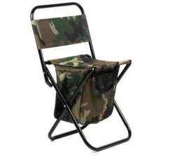 Rybárska rozkladacia stolička s opierkou