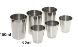 Sada nehrdzavejúcich pohárov 3x60ml 3x150ml v púzdre