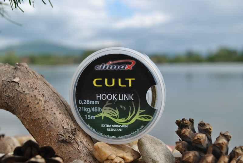 Nadväzcová šnúra CLIMAX - CULT Hook Link - 15m 15m 0,14mm 9kg/20lb